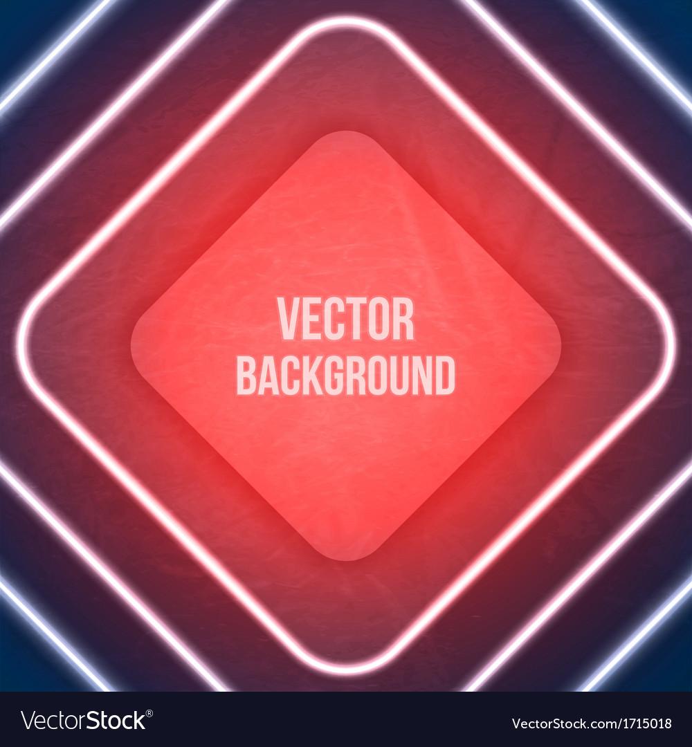 Geometric background neon lights grunge background vector