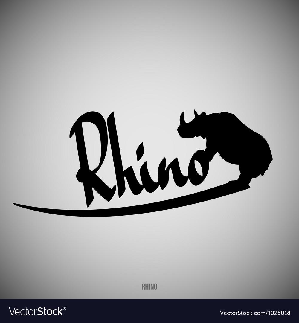 Rhino calligraphic elements vector