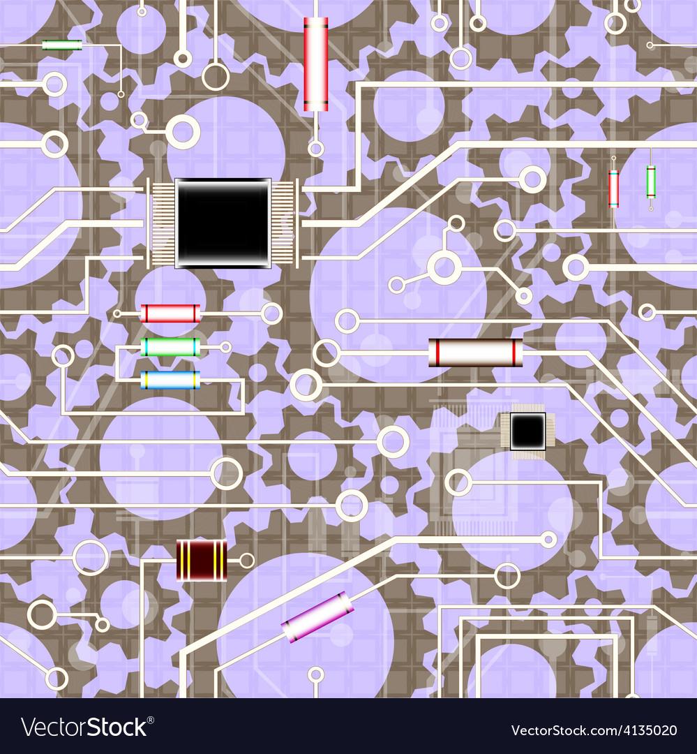 Electronics background vector