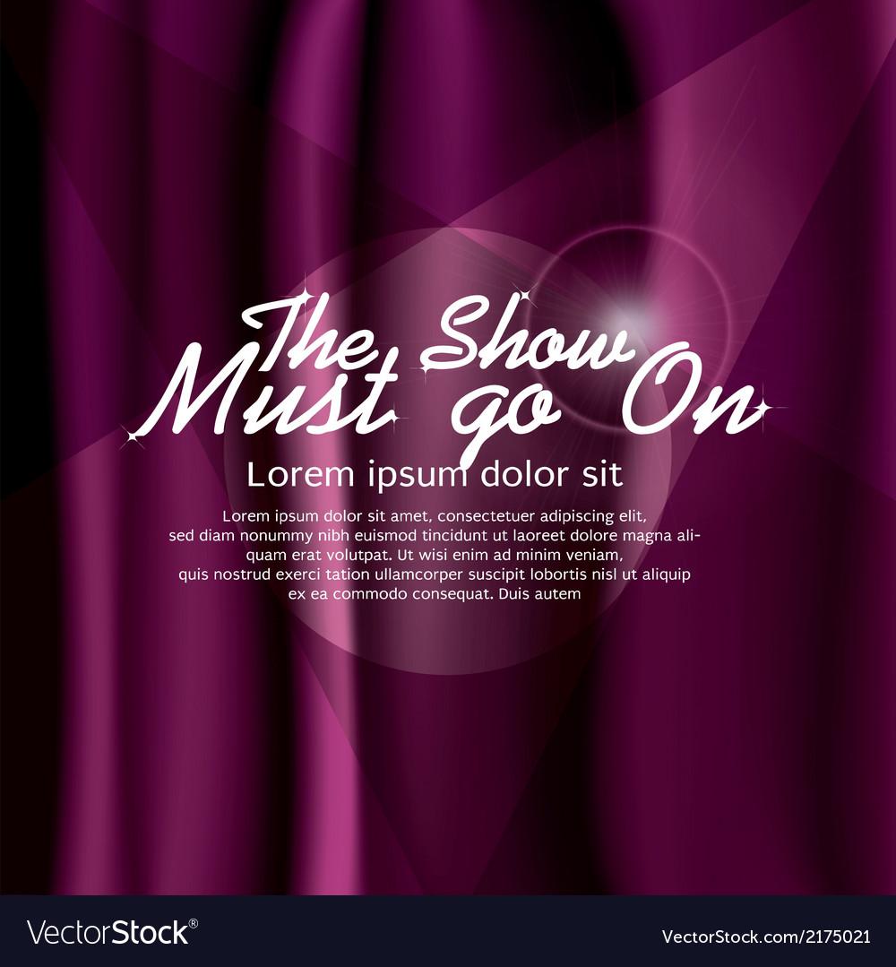 Purple curtain vector