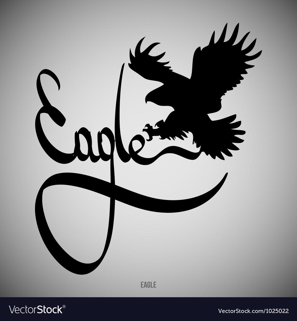 Eagle calligraphic elements vector