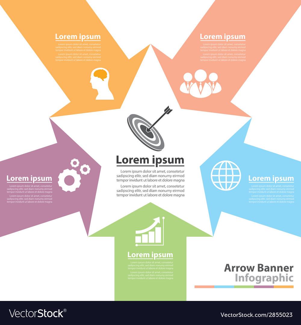 Arrow banner infographic vector