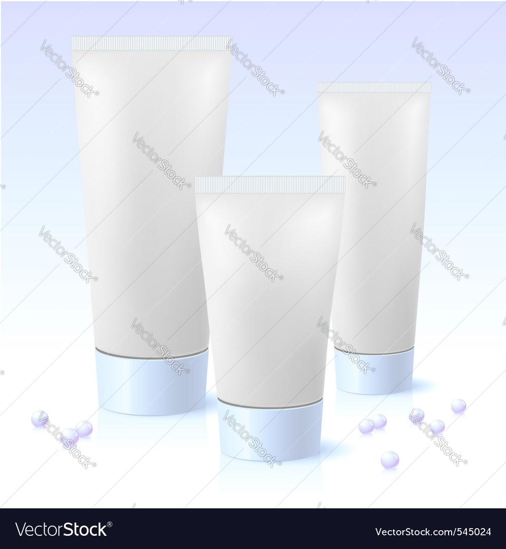 Cosmetic tube vector