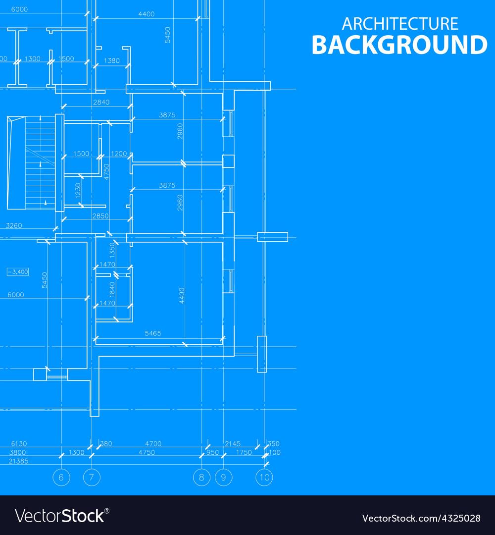 Blueprint architecture model vector