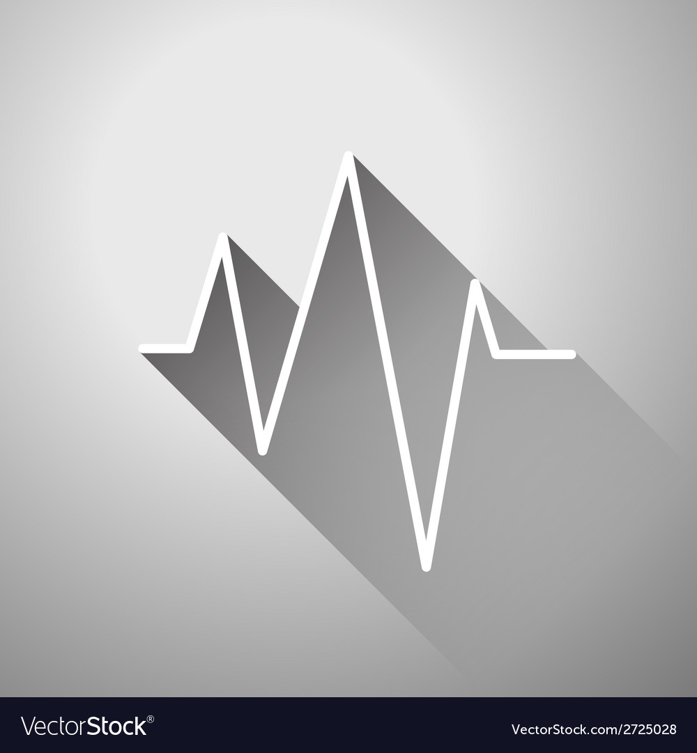 Sound wave flat icon vector