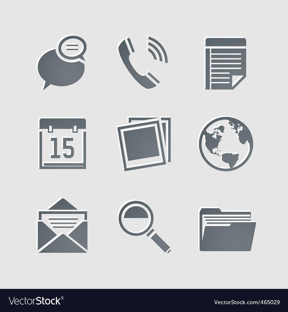 Business pictogram vector