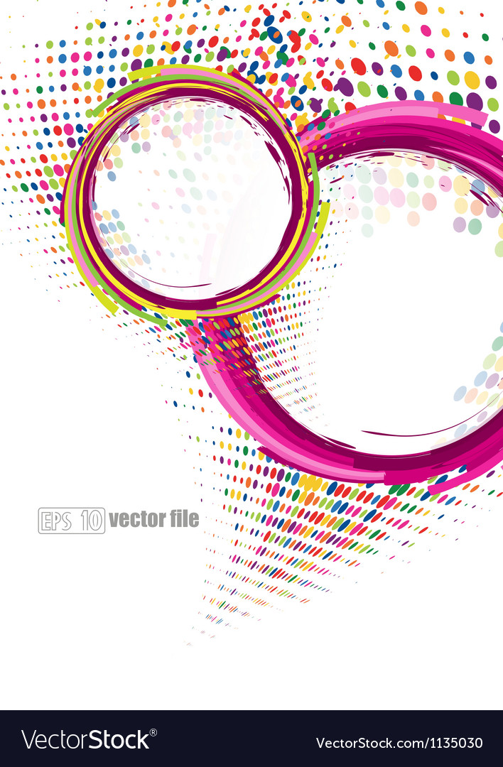 Abstract colorful swirly vector