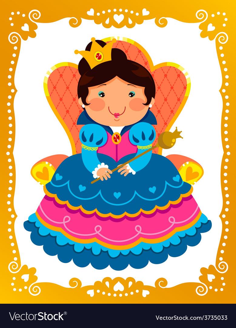 Cartoon queen vector
