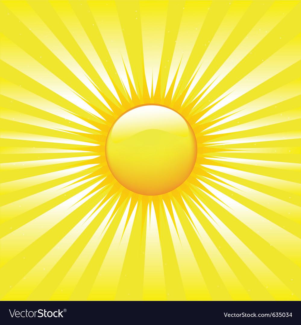 Bright sunburst vector