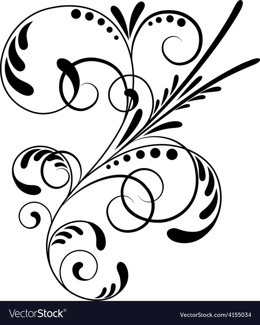 Element of ornament 1301 vector