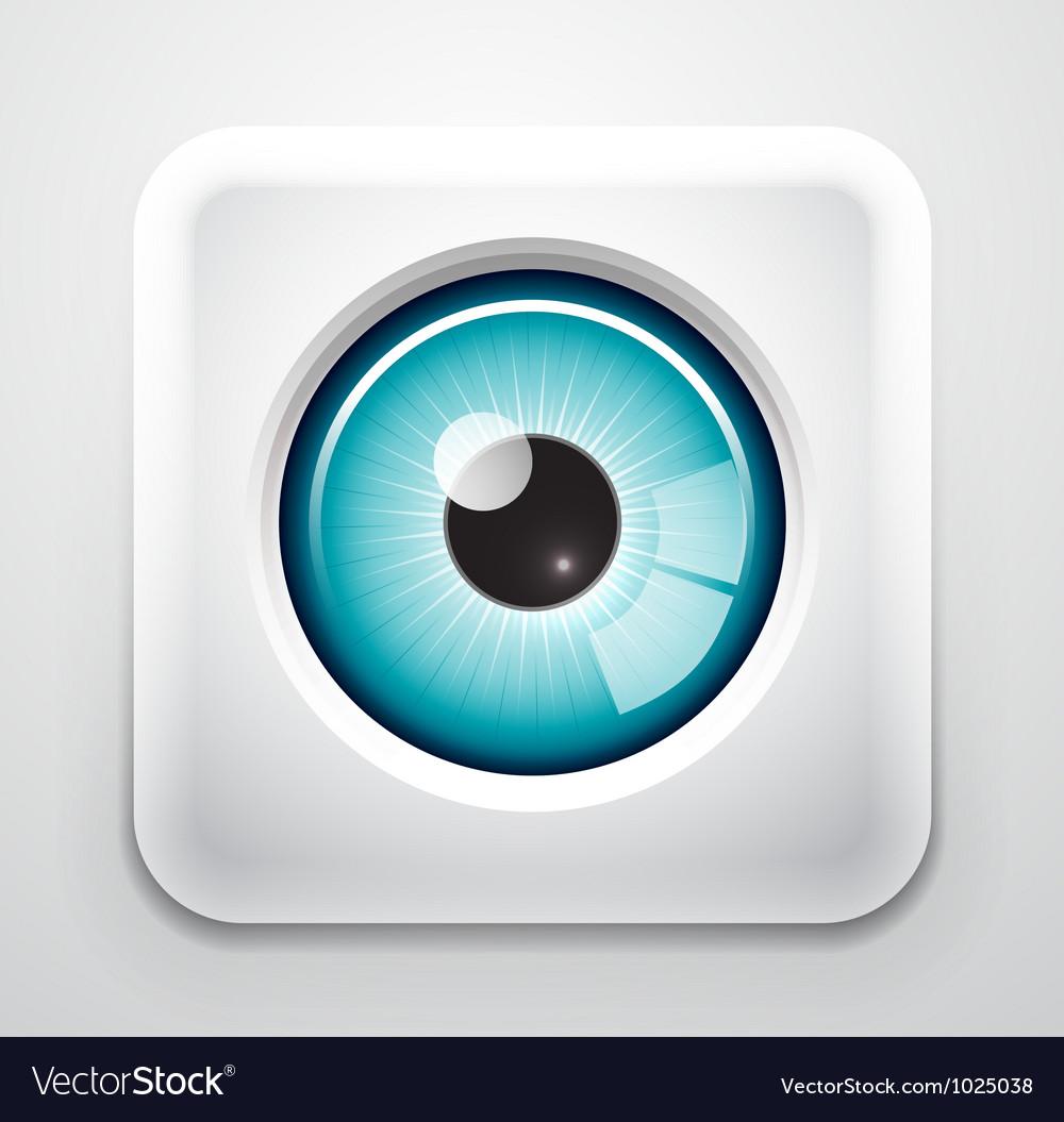 Eye button vector