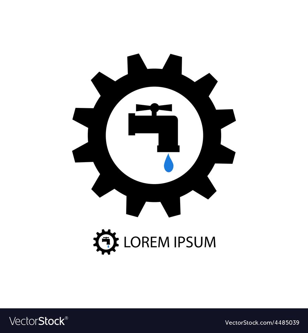 Plumbing logo vector