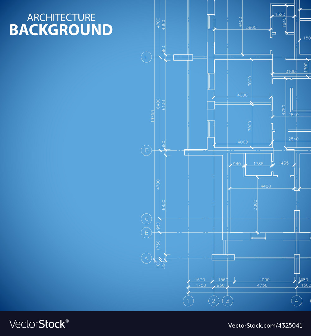 Blueprint building plan vector
