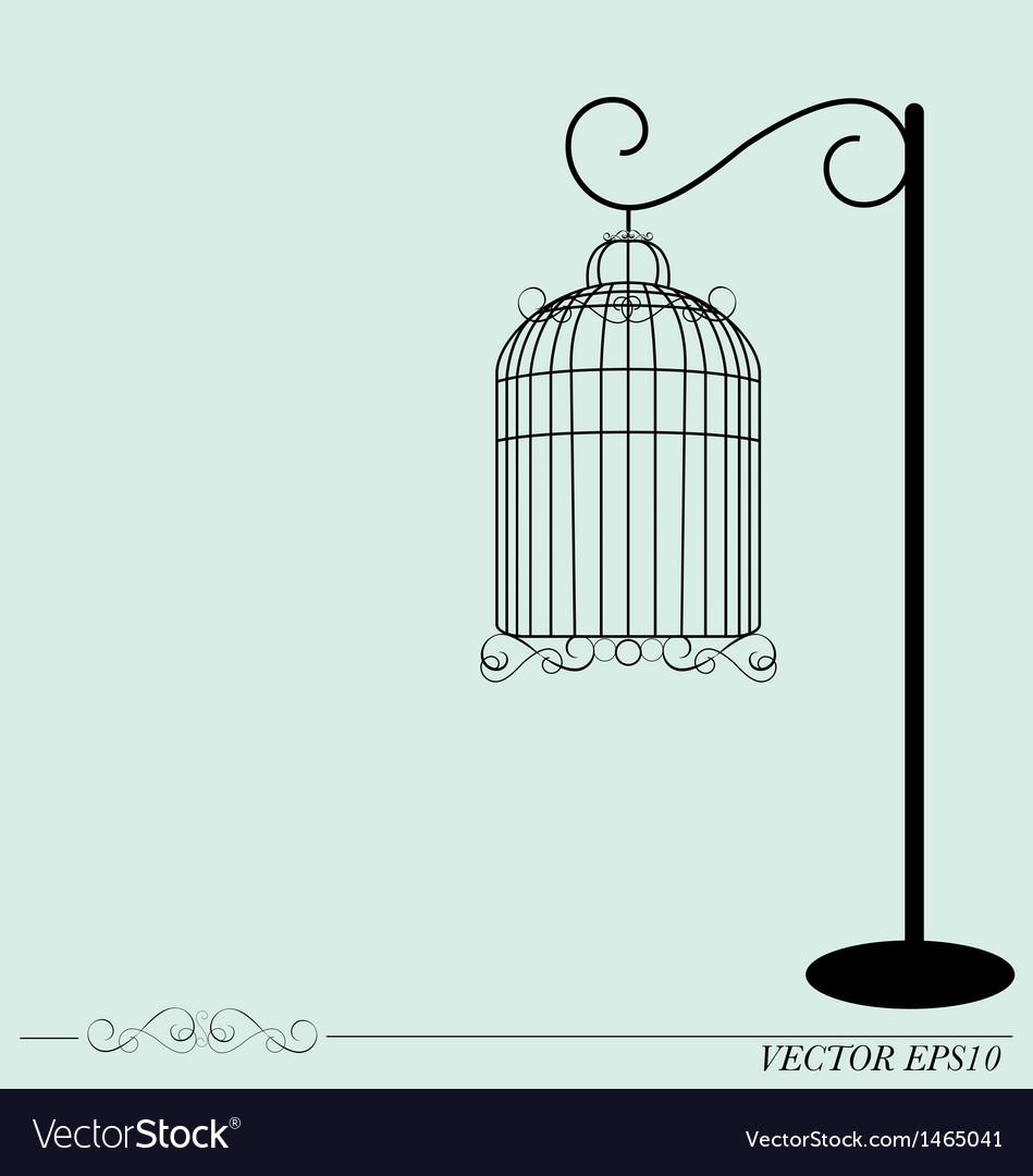 Vintage birdcages vector