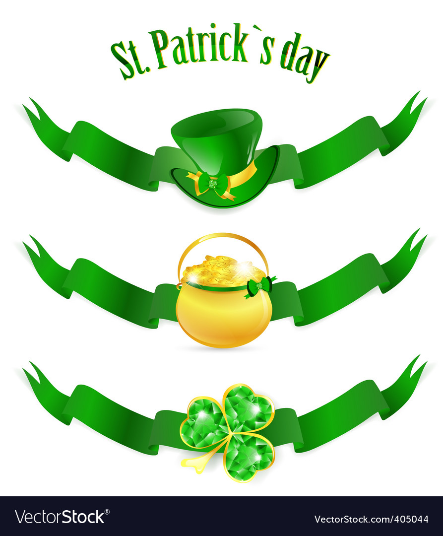 St patrick's day banners vector