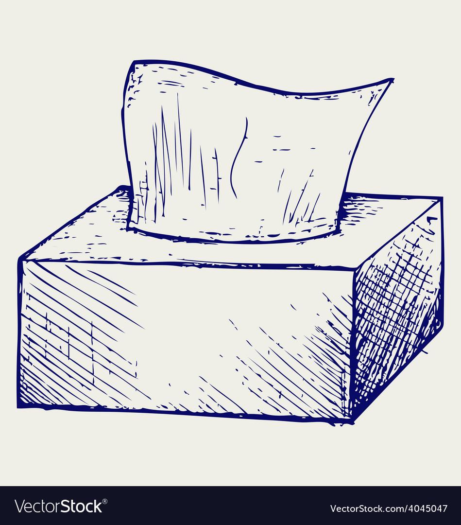 White tissue box vector