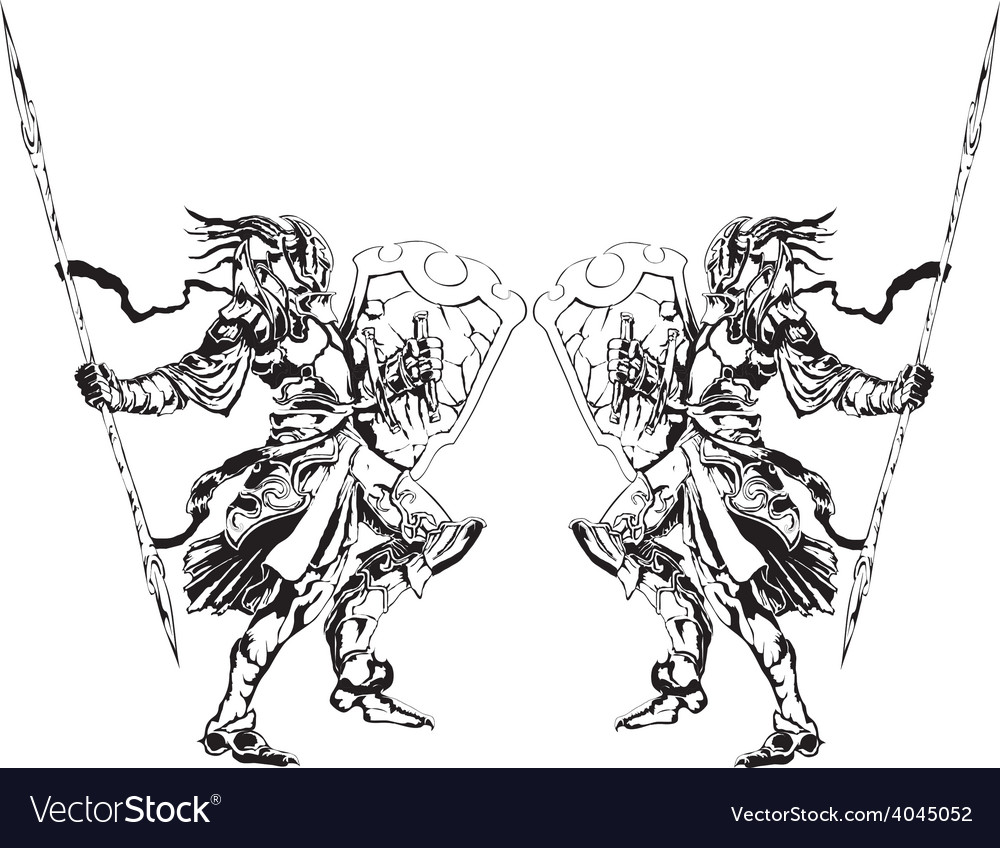 Two knights vector
