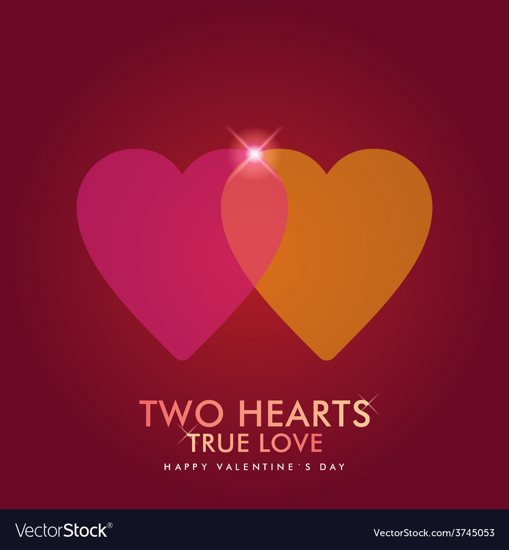 Valentines day abstract background with hearts vector