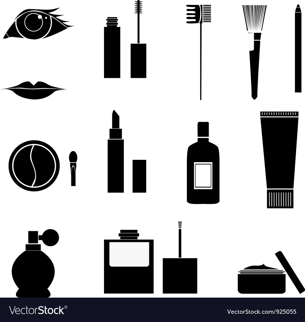 Makeup icons vector