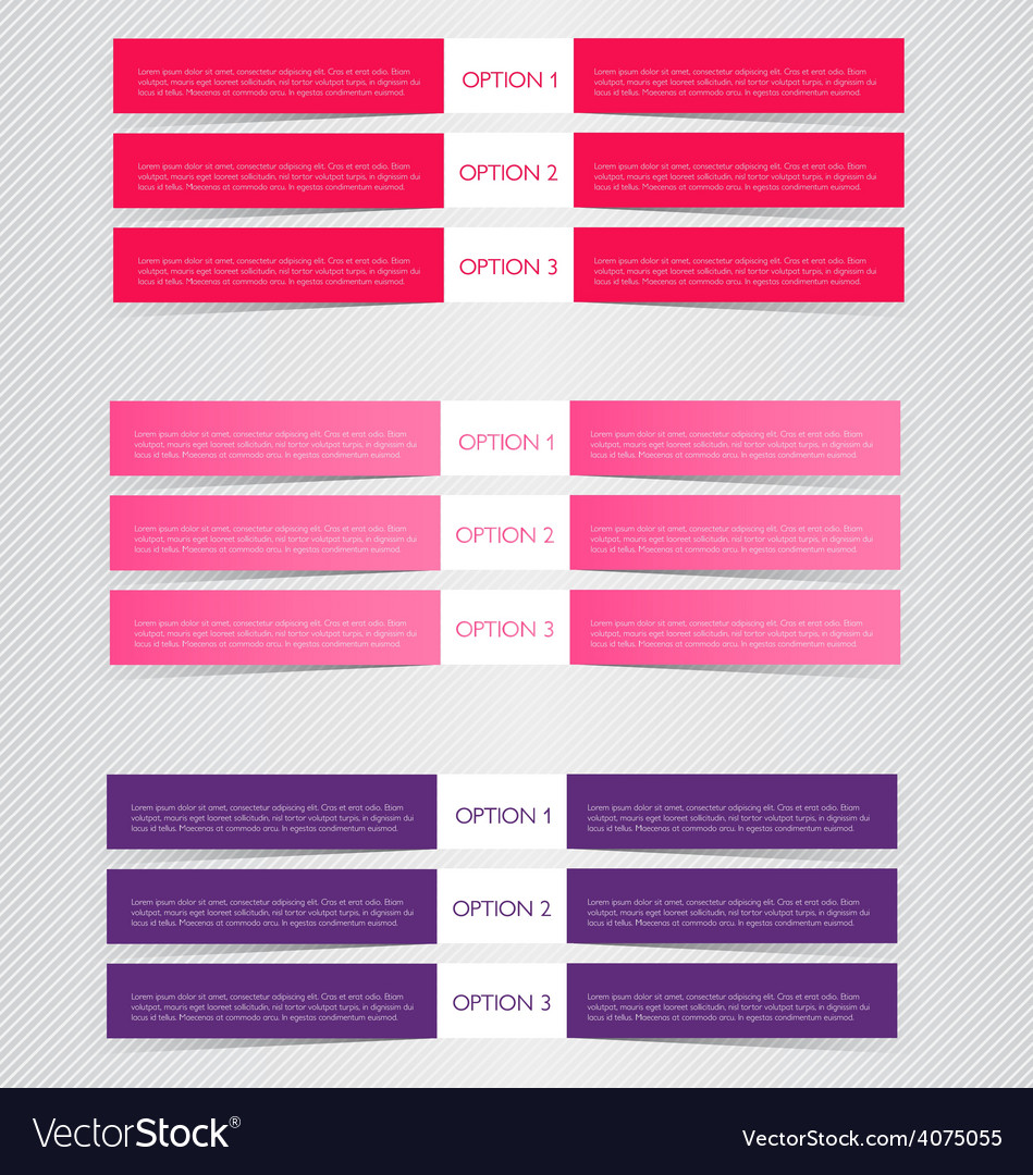 Modern infographics colorful web design template vector