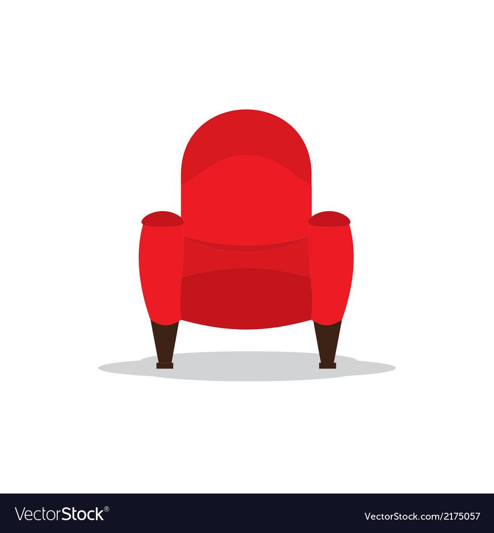 Single cinema seat vector
