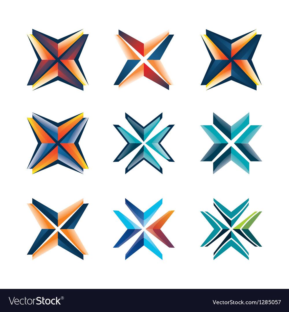 Star logo set vector