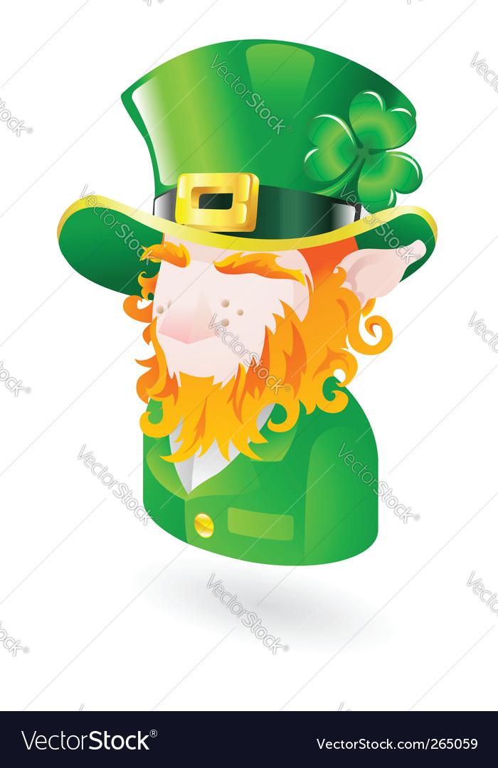 Leprechaun icon vector