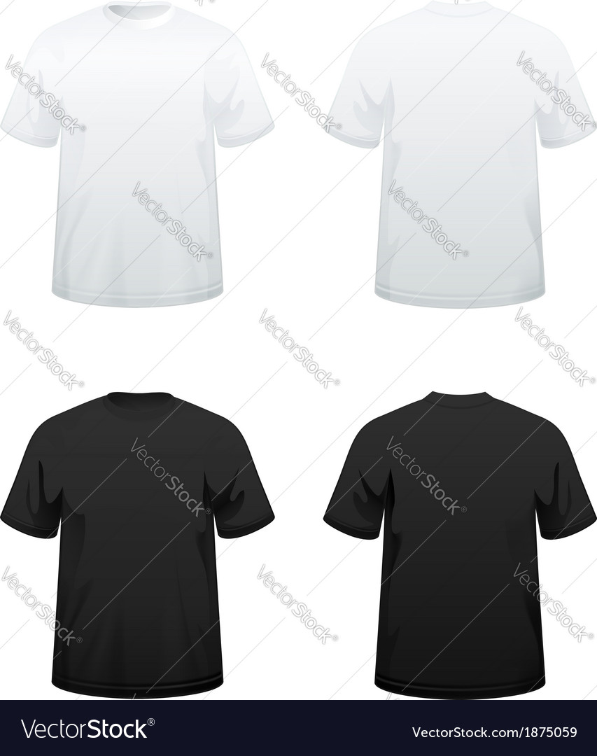 T shirts in white and black vector
