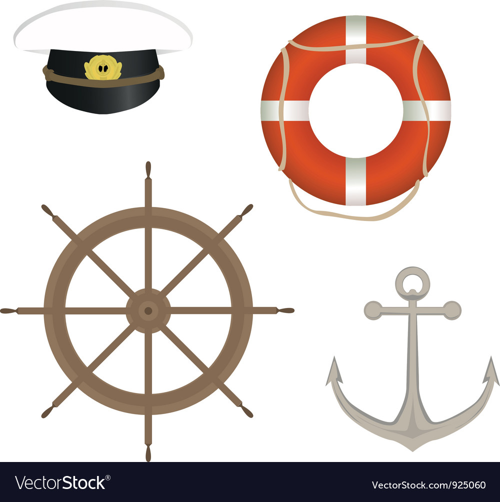 Range of marine accessories vector