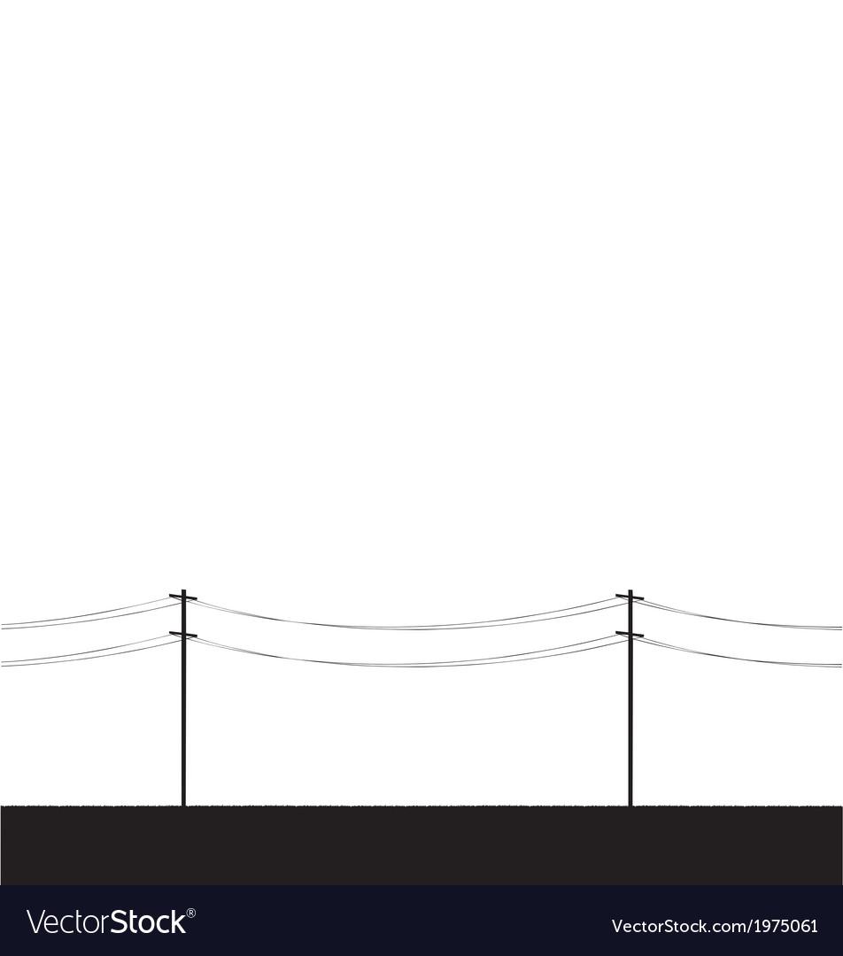 Telegraph poles vector