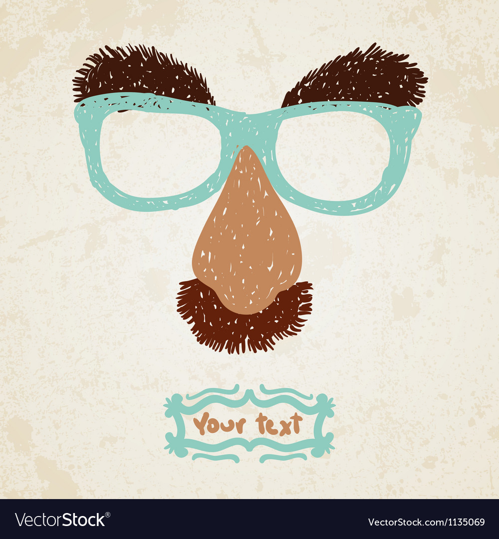 Doodle disguise mask easily added on to a face vector