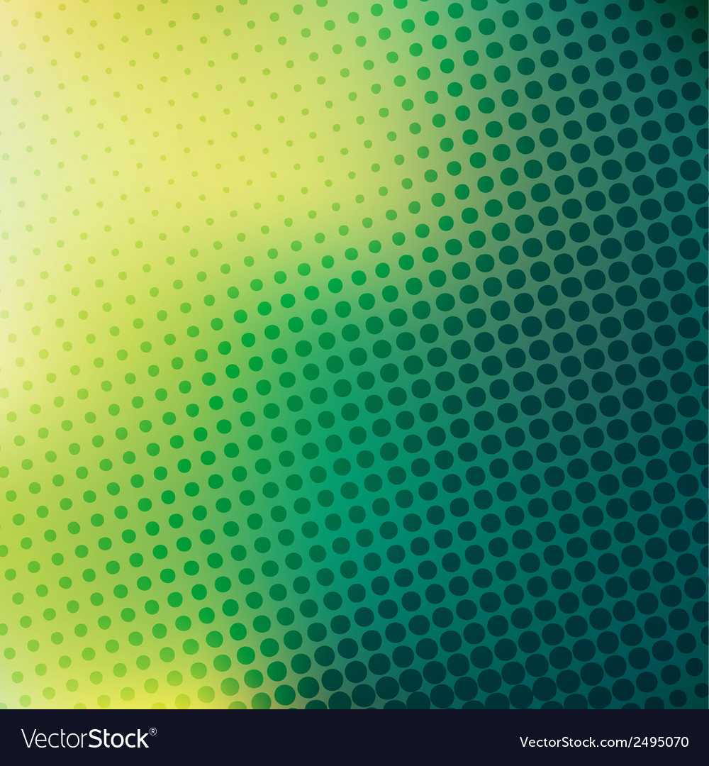 Abstract green yellow halftone background vector