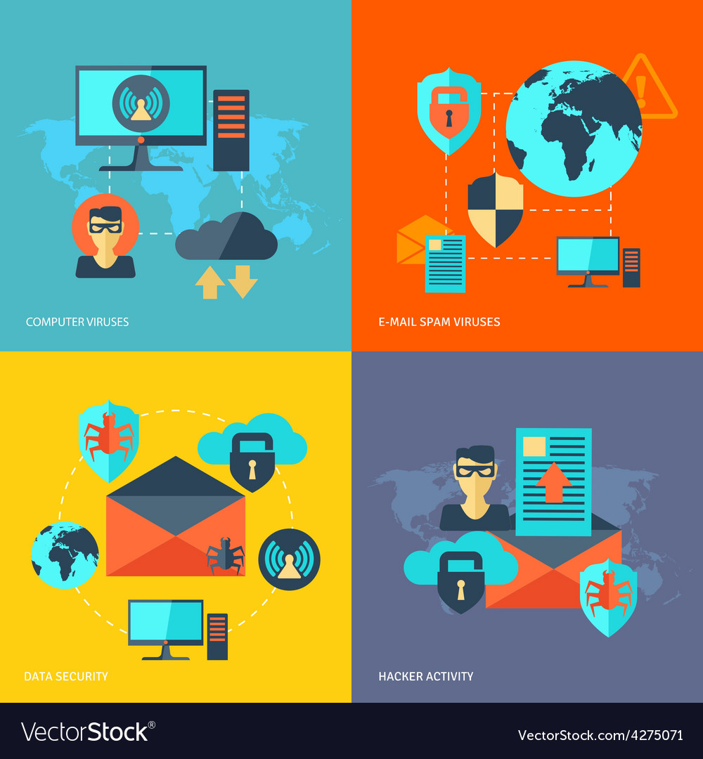Network security concept vector