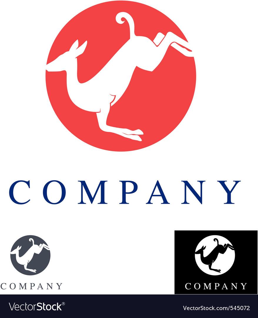 Gazelle logo and design element vector