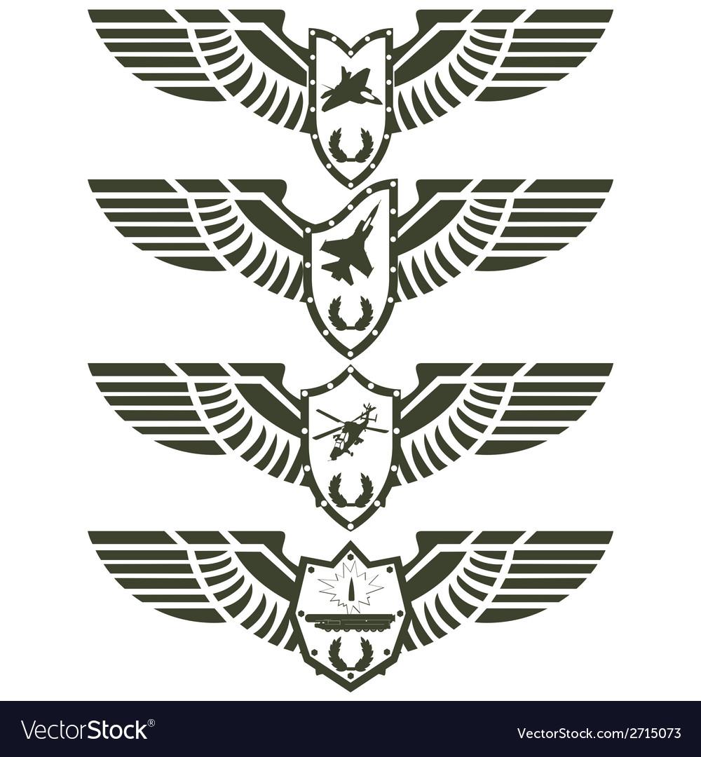 Army badges-2 vector