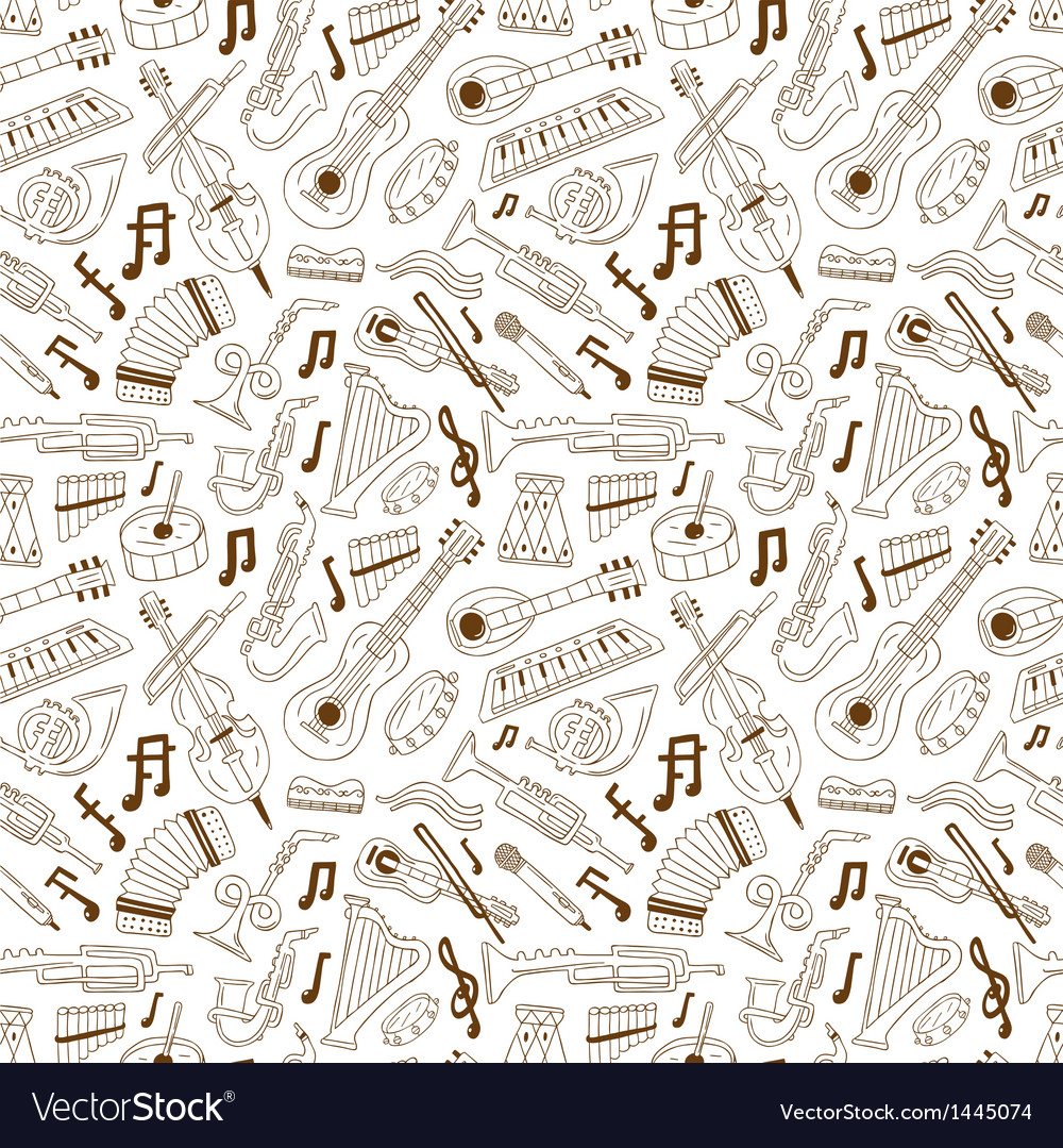 Jazz - seamless background vector