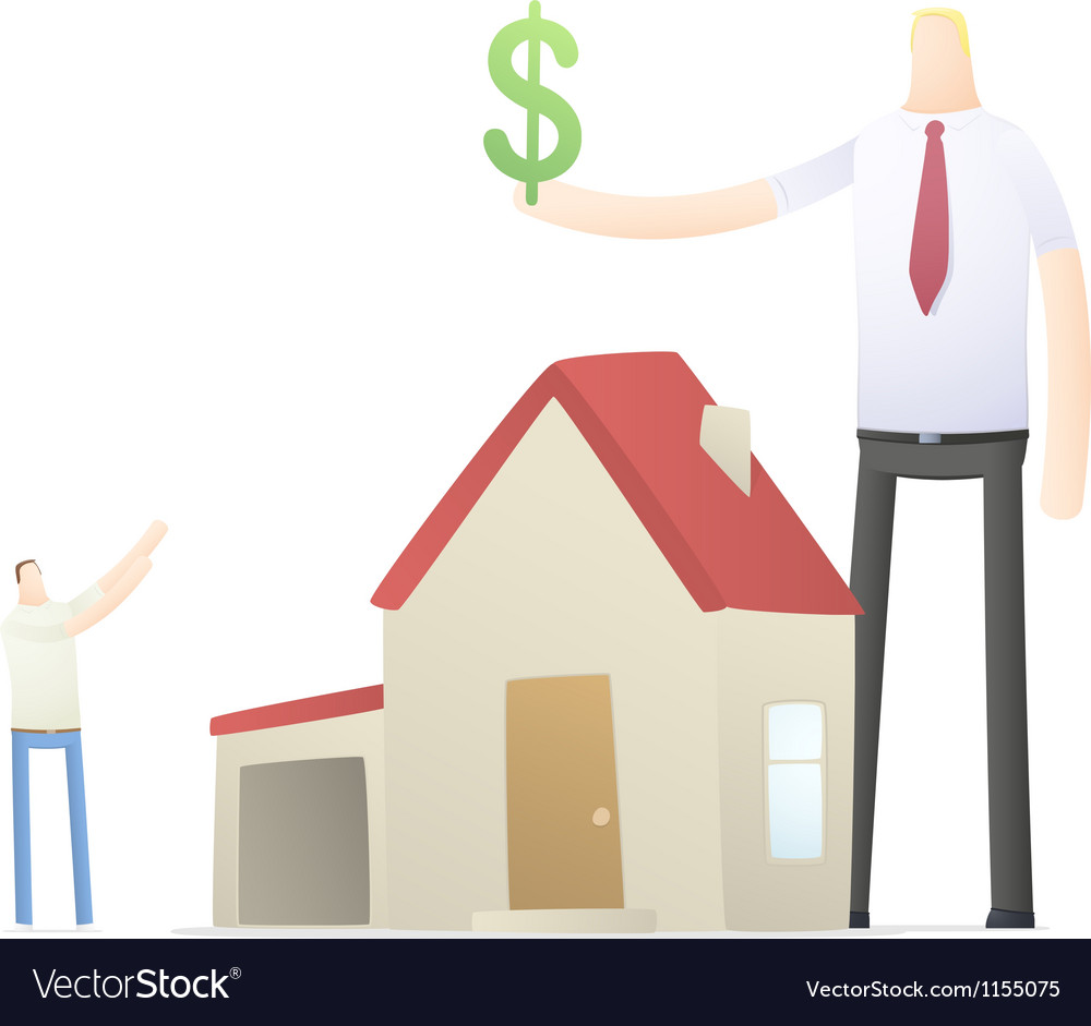 Agent increases the rate of credit for real estate vector