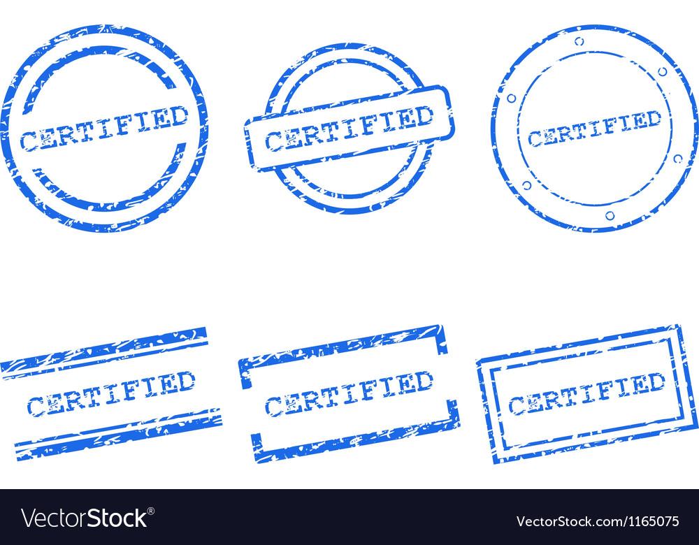 Certified stamps vector