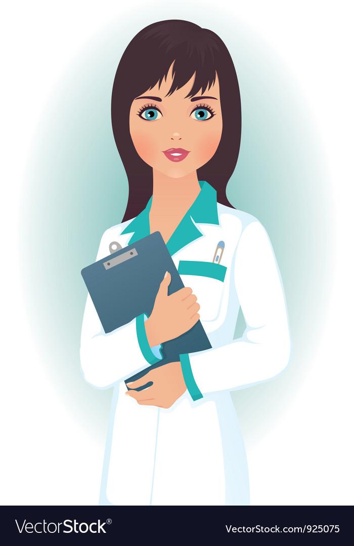 Doctor woman vector