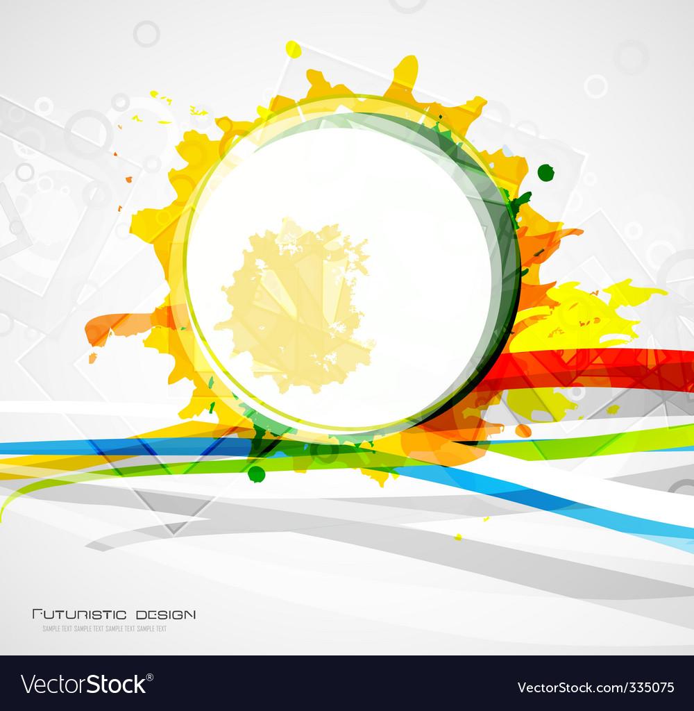 Paint grunge background vector
