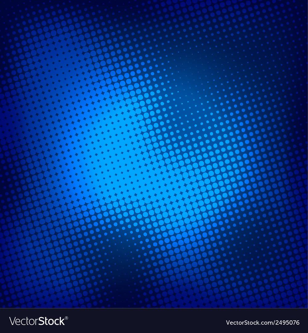 Creative blue halftone background vector