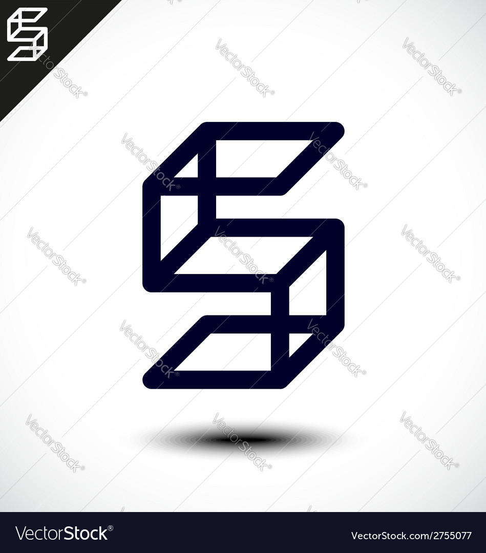 Abstract letter s icon vector