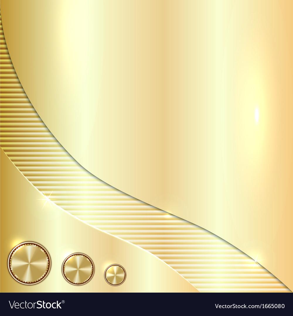 Golden metallic background vector