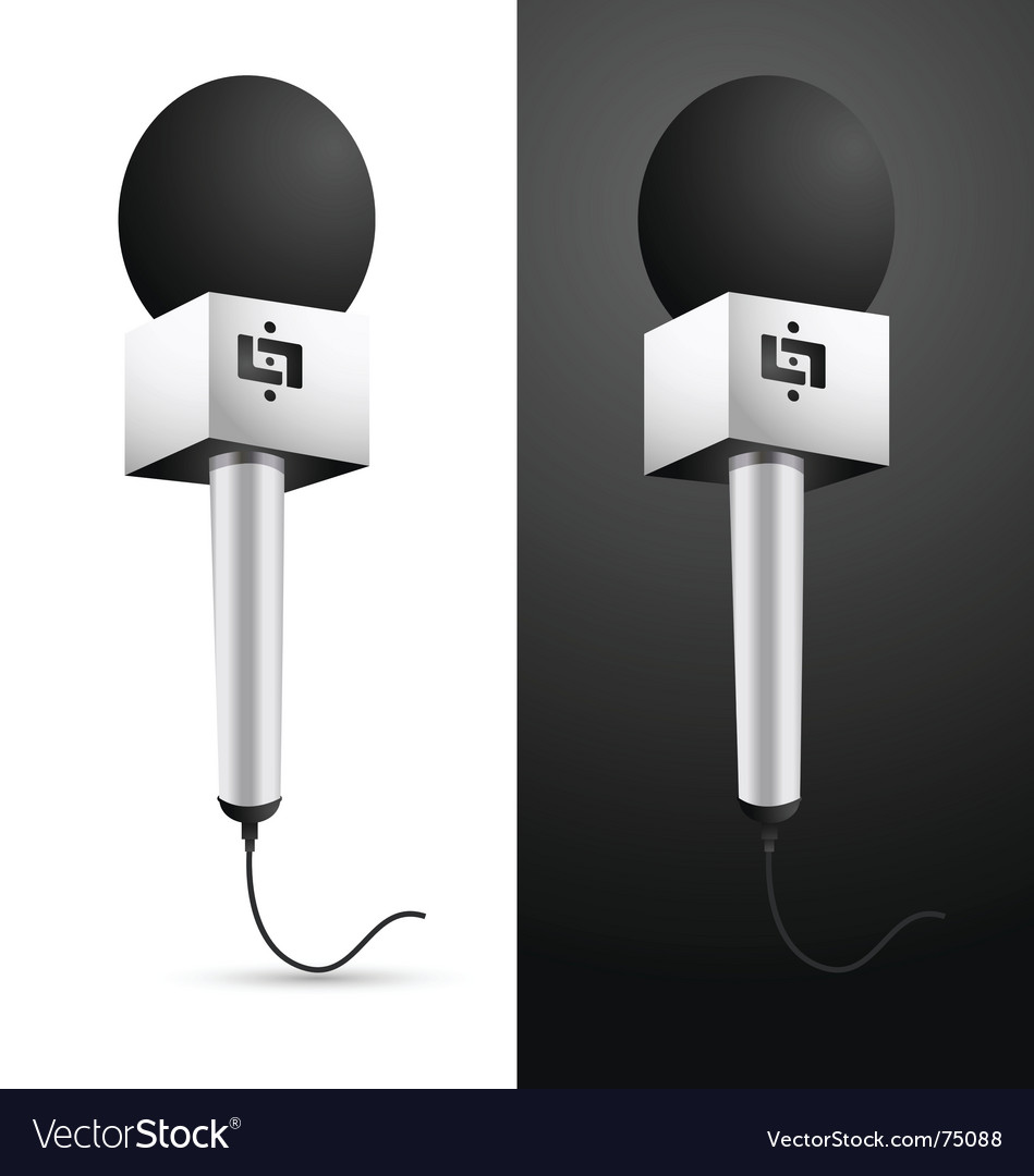 Microphone with cable vector