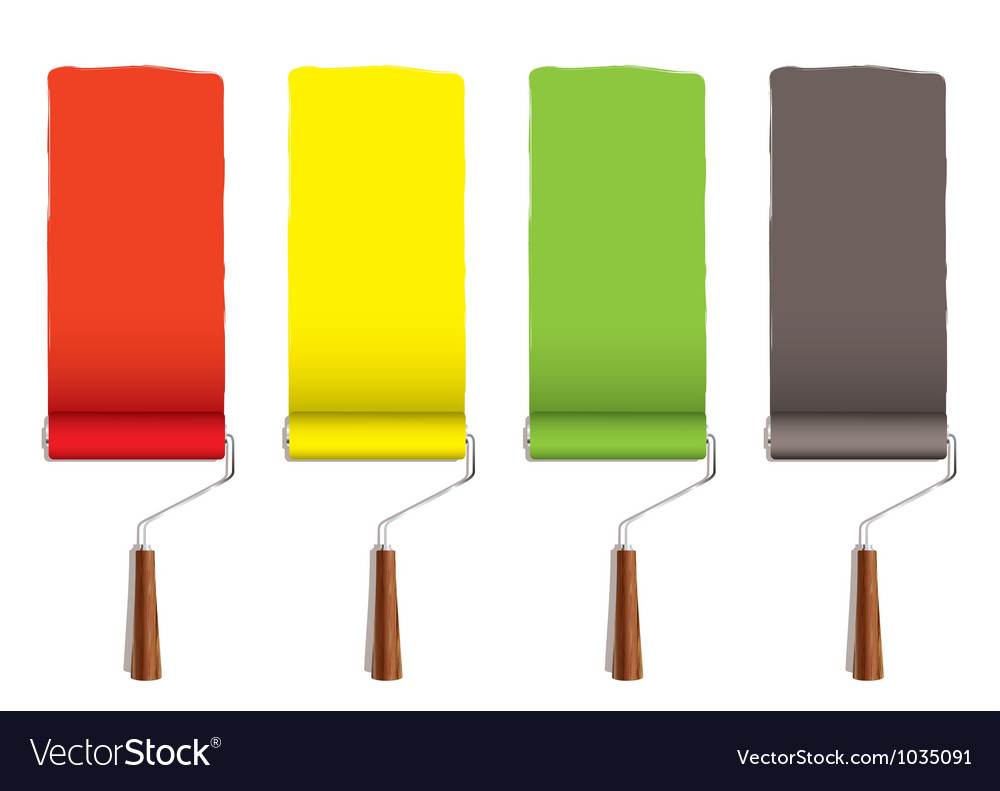 Paint roller stripe vector