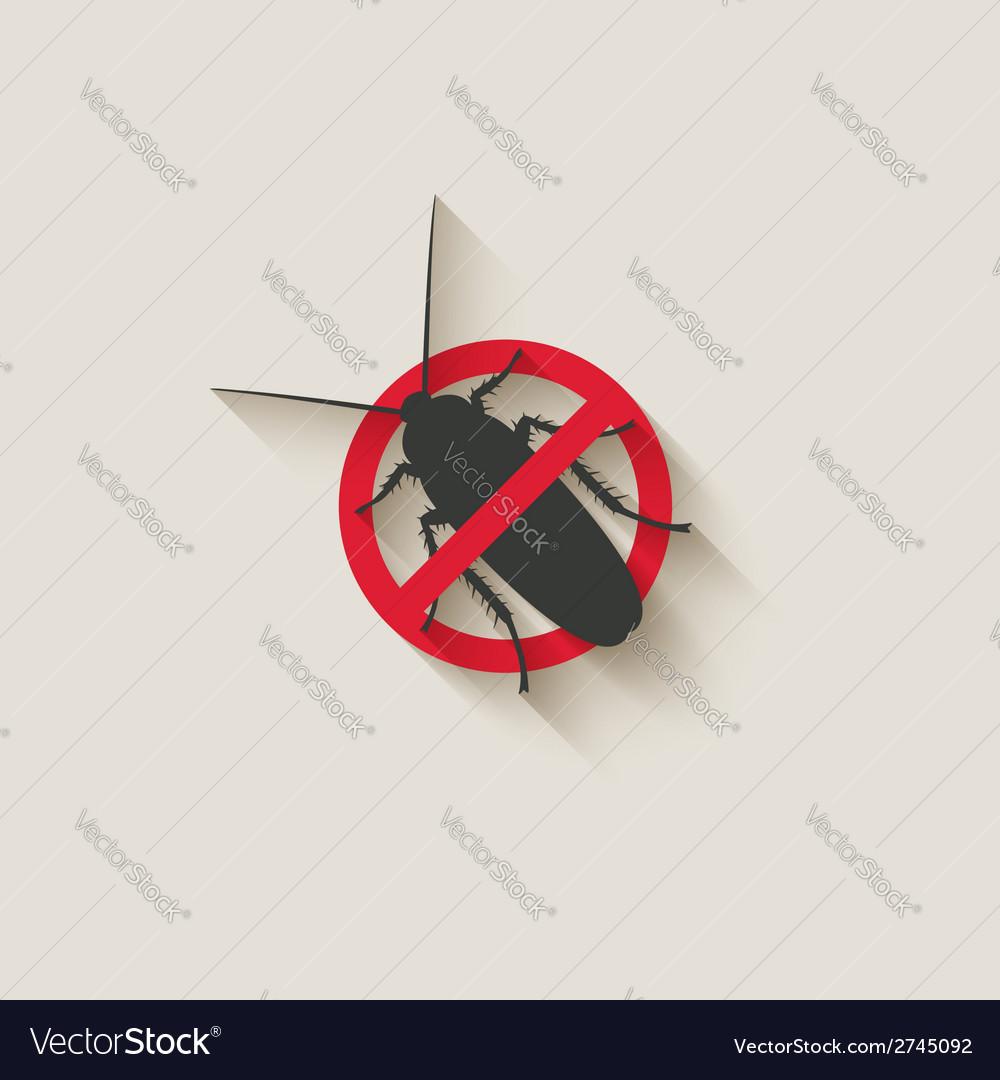 Cockroach warning sign vector