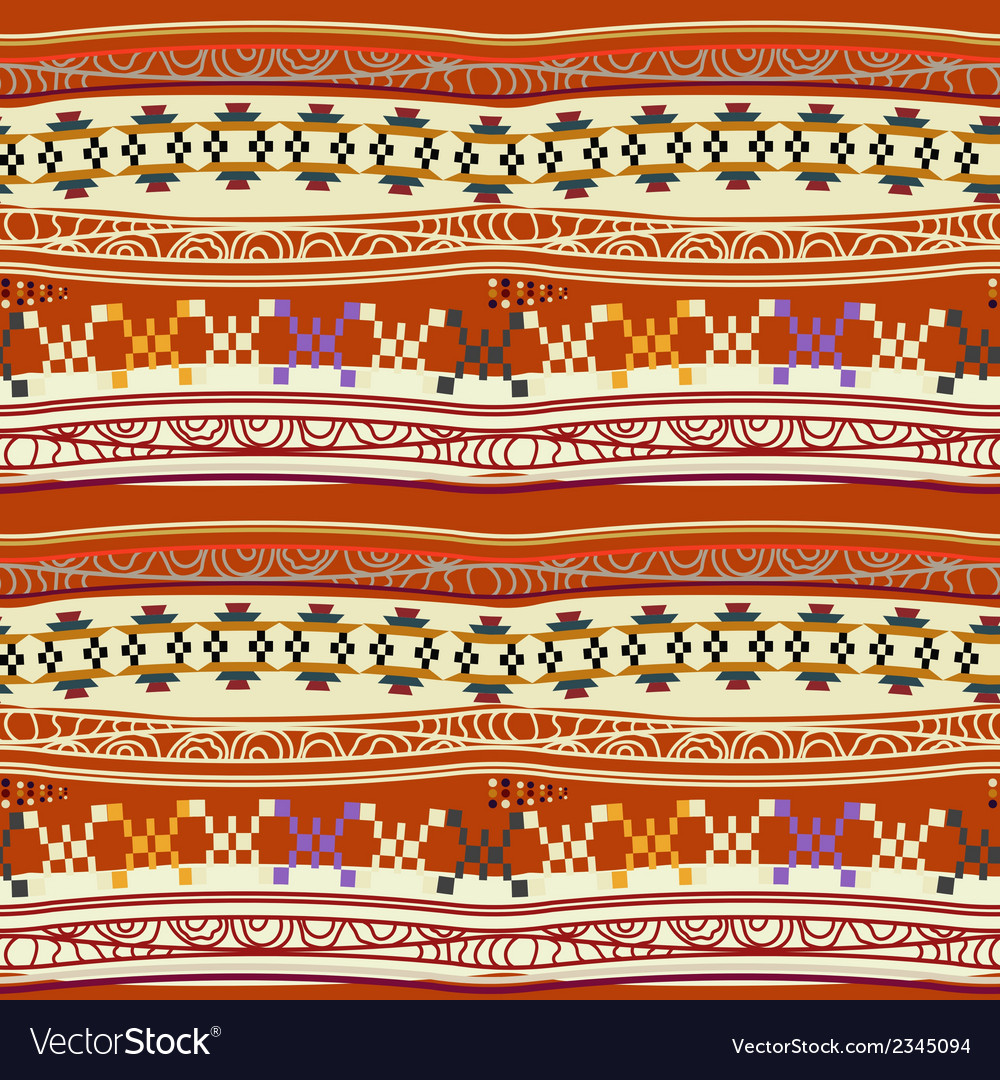 Seamless texture with abstract mexican pattern vector