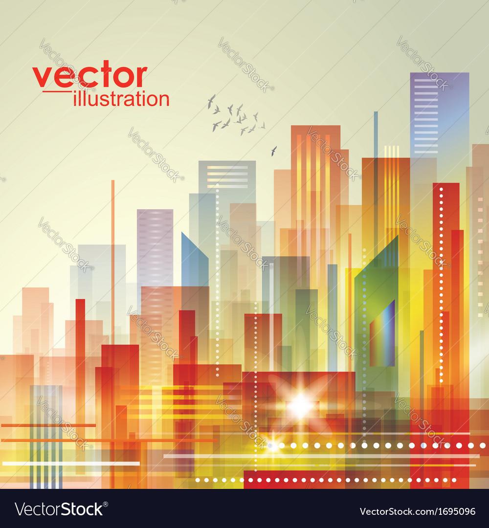 Modern cityscape concept background vector