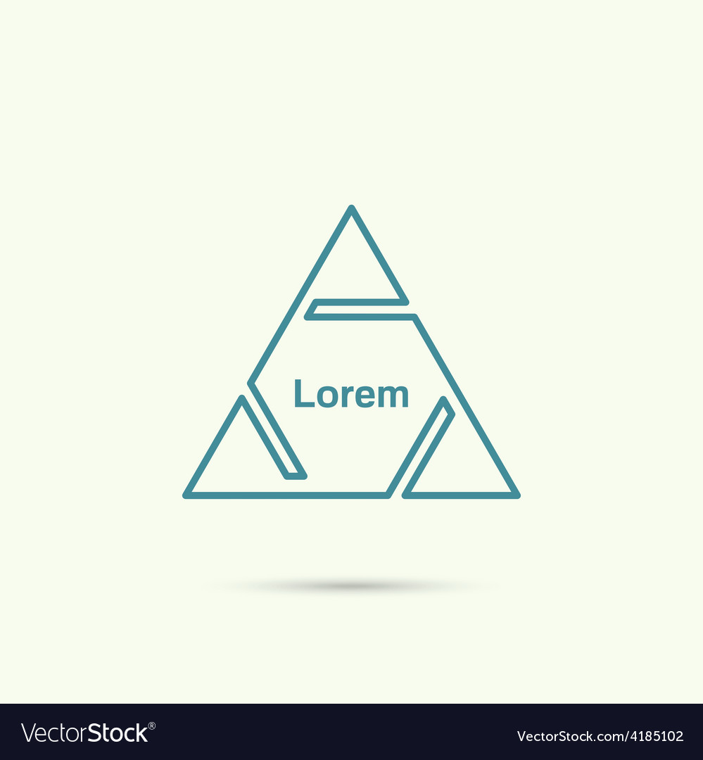 Pyramid with triangles and cuts vector