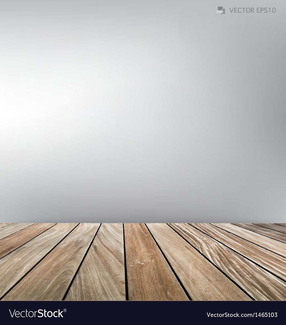 Empty room wood floor vector